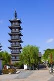 Torre vieja en Shangai Fotografía de archivo