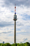 Torre Vienna di Danubio Fotografia Stock Libera da Diritti