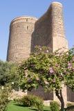 Torre virginal en ciudad vieja baku azerbaijan Imagen de archivo