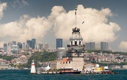 Torre virginal en Estambul Fotos de archivo libres de regalías