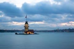 Torre virginal Estambul Fotografía de archivo
