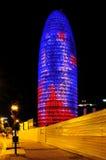 Torre w Barcelona Agbar, Hiszpania Fotografia Stock