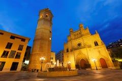 Torre y catedral de Fadri. Castellon de la Plana imagen de archivo libre de regalías