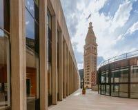 Torre y edificios históricos de reloj en Denver céntrica, los E.E.U.U. imágenes de archivo libres de regalías