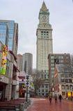 Torre y Faneuil Hall Marketplace de aduanas en Boston céntrica Imagenes de archivo