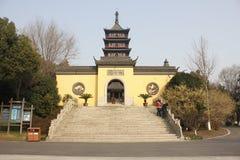 Torre y Memoria Pasillo de Haogu a Wu Zhixu (Jiaxing, Zhejiang, China) Imágenes de archivo libres de regalías