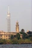 Torre y mezquita de la TV Fotografía de archivo