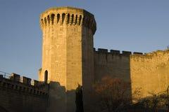 Torre y pared de Avignon fotos de archivo