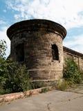 Torre y pared de la fortaleza Foto de archivo libre de regalías