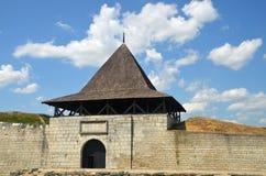 Torre y pared del castillo Imágenes de archivo libres de regalías