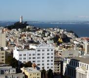 Torre y San Francisco de Coit Fotos de archivo libres de regalías