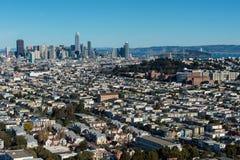 Torre y San Francisco Skyline de Salesforce Imagen de archivo
