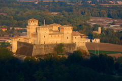 Torrechiara Castle. The famous castle of Torrechiara in Langhirano, Italy Royalty Free Stock Photo