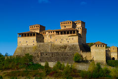 Torrechiara Castle Parma. Torrechiara Castle in province of Parma, northern Italy royalty free stock photo