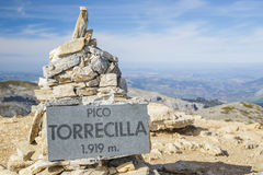 Torrecilla milestone signal Royalty Free Stock Photos