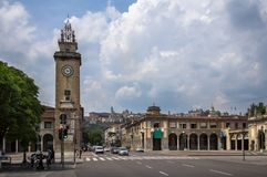 Torredei Caduti in Bergamo, Italië Stock Afbeeldingen