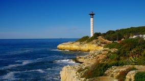 Torredembarra latarnia morska blisko Tarragona, Costa Dorada zdjęcie wideo