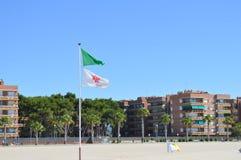 TORREDEMBARRA, SPANJE - Juni 30: Torredembarra strand op 30 Juni, 2016 Stock Foto