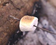 Torrefazione della caramella gommosa e molle su un fuoco aperto Fotografie Stock