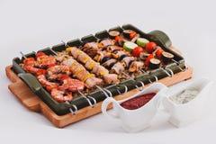 Torrefazione delle carni del barbecue Immagine Stock