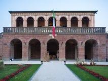 Villa dei Vescovi is a Venetian Renaissance-style villa. Current Stock Photo