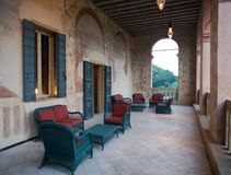 The wonderful outdoor terrace of Villa dei Vescovi, a Venetian R Stock Images