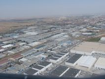 Torrejon airport and industrial area in Madrid royalty free stock photos