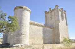 Torrelobaton Castle, Castile and Leon, Spain. Torrelobaton Castle is is one of the most important and best-preserved fortresses in Valladolid, Castile and Leon stock photo