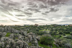 Torrelodones, Madrid,Spain. Storm close toTorrelodones town, Madrid,Spain. In this town lives famous actors and actress Stock Images