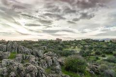 Torrelodones, Madrid,Spain. Storm in field close to torrelodones toown, northwestern of Madrid, Spain Royalty Free Stock Image