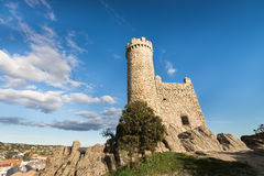 Torrelodones, Madrid,Spain. Urban view of Torrelodones town, Madrid,Spain. In this town lives famous actors and actress. Tower is symbol of town Stock Photos