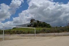 Torremelgarejo-Schloss lizenzfreie stockbilder