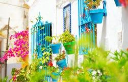 Torremolinos Costa Del Sol, Andalousie Village blanc Photographie stock