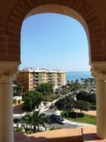 Torremolinos, Costa del Sol. Torremolinos beach, Costa del sol, Malaga, Spain royalty free stock photo
