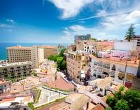 Torremolinos panoramautsikt. Spanien arkivbilder