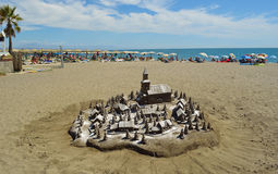 Torremolinos Sand Sculpture Royalty Free Stock Images