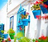 Torremolinos. Villaggio bianco spagnolo fotografia stock libera da diritti
