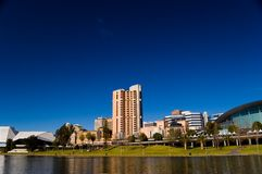 Torrens Lake and Adelaide Scenic. The City of Adelaide as seen from the River Torrens stock images