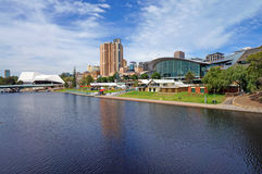 Torrens Lake and Adelaide Scenic Stock Photo