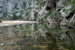 Torrent. Inside the mountains in Majorca in Spain stock image