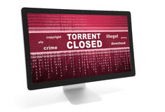 Torrent closed message Stock Photo