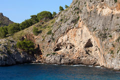 Torrent de Pareis - κόλπος Sa Calobra σε Majorca Στοκ Εικόνα