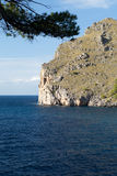 Torrent de Pareis - bahía del Sa Calobra en Majorca Foto de archivo libre de regalías