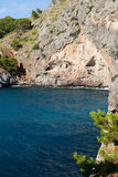 Torrent de Pareis - baie de SA Calobra dans Majorca Image libre de droits