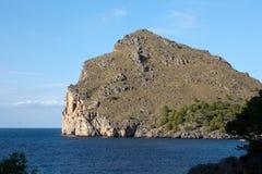 Torrent de Pareis - Bucht Sa Calobra in Majorca Lizenzfreies Stockbild