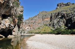 Torrent de Pareis Canyon Stock Image