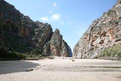 Torrent de Pareis, Escorca, Mallorca, España Fotos de archivo libres de regalías