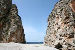 Torrent de Pareis, Escorca, Mallorca, Spanien Lizenzfreies Stockbild