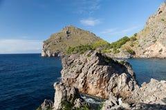 Torrent de Pareis - Sa Calobra海湾在马略卡 免版税库存图片