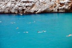 Torrent de Pareis, Sa Calobra. The gorge of Sa Calobra, Mallorca, Spain, is a famous tourist attraction Royalty Free Stock Photography